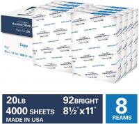 20lb Copy Paper, 8.5 x 11, 8 Ream Case, 4,000 Sheets, Made in USA, Sustainably Sourced From American…