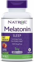 Melatonin Fast Dissolve Tablets, Helps You Fall Asleep Faster by Natrol - 5mg, 150Count