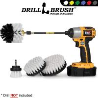 Motorcycle Accessories Soft White Drill Brush Kit with Exten…