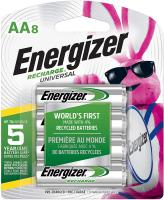Rechargeable AA Batteries NiMH 2000 mAh by Energizer - 8 cou…