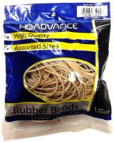 Rubber Bands 1.5oz, Tan - Assorted Sizes by HQ Advance