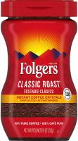 Classic Roast Instant Coffee Crystals by Folgers, 8 Ounces
