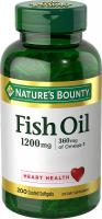 Fish Oil 1200 mg Omega-3, Heart Health by Nature's Bounty - 200 Rapid Release Softgels