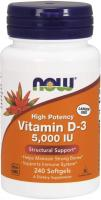 NOW Supplements, Vitamin D-3 5,000 IU, High Potency, Structural Support 240 Tablets