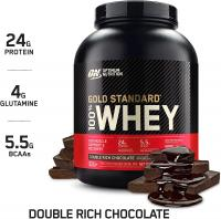 Gold Standard 100% Whey Protein Powder by Optimum Nutrition, Double Rich Chocolate, 5 Pound Pack