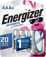 AAA Lithium Batteries Ultimate Lithium Triple A Battery by Energizer - (8 Count)