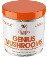 Genius Mushroom – Lions Mane, Cordyceps and Reishi – Immune System Booster & Nootropic Brain…