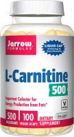 L-Carnitine, Supports Enery Cardiovascular Health by Jarrow Formulas - 500 mg, 100 Veggie Licaps