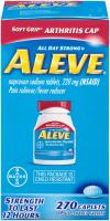 Soft Grip Arthritis Cap Caplets, Naproxen Sodium by Aleve - 220 mg 270 Count