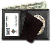 Hero's Pride Bi-Fold Badge Holder Wallet, Shield Style with ID window Leather