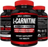L-Carnitine by Arazo Nutrition 1000mg Servings 120 Tablets – Carnitine Amino Acid