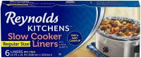 Kitchens Premium Slow Cooker Liners by Reynolds 13 x 21 Inch, 6 Count