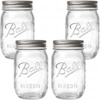 egular Mouth Mason Jars with Lids and Bands by Ball - Pack of 4