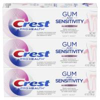 Health Gum and Sensitivity Sensitive Toothpaste by Crest - (Pack of 3), 4.1 oz