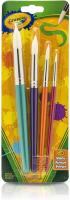 Kids Paint Brushes, Painting Supplies by Crayola - 4 Count, Ages 3, 4, 5, 6