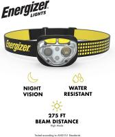 VISION LED Headlamp Flashlight 400 High Lumens by Energizer