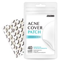 Acne Absorbing Cover Patch Hydrocolloid by AVARELLE, Tea Tree, Calendula Oil - (40 ROUND PATCHES)