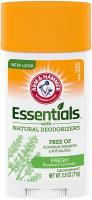 Essentials Natural Deodorant by Arm & Hammer, Fresh 2.5 oz (Pack of 6)