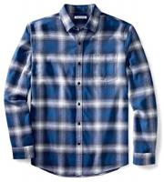 Men's Regular-Fit Long-Sleeve Plaid Flannel Shirt by Amazon Essentials