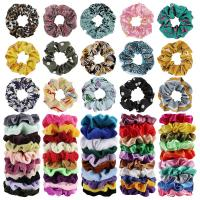 65Pcs Hair Scrunchies Velvet,Chiffon and Satin Elastic Hair Bands Scrunchie Bobb…