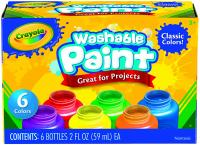 Washable Kids Paint by Crayola, Classic Colors, 6 Count, Pai…