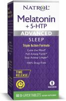Melatonin + 5 HTP Advanced Sleep Time Release Bi-Layer Tablets by Natrol - 100% Drug-Free, 10mg, 60 …