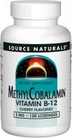 Methylcobalamin Vitamin B-12 5mg Cherry Flavored by Source Naturals - 120 Tablets
