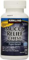 Mucus Relief Chest Guaifenesin 400 mg Expectorant by Kirkland Signature - 200 Ta…
