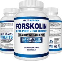 Forskolin Extract 250MG Supplement by Arazo Nutrition – 60 Capsules