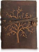 Leather Journal Tree of Life - Writing Notebook Handmade Leather Bound Daily Notepads for Men and Wo…