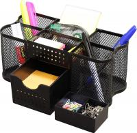 Desk Supplies Organizer Caddy by Deco Brothers - Black