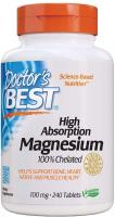 Doctor's Best High Absorption Magnesium Glycinate Lysinate, 100% Chelated, TRACCS, Not Buffered, Hea…