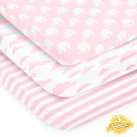 Pack n Play Playard Sheets Set by BaeBae Goods | 3 Pack | 100% Super Soft Jersey…