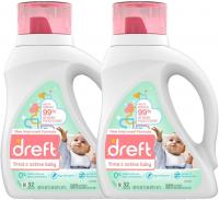 Active Hypoallergenic Liquid Baby Laundry Detergent for Baby by Dreft - 50 Ounces(32 Loads), 2 Count…
