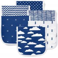Burp Cloths Set for BaeBae Goods (6 Pack), Navy Clouds Super…