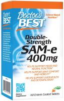 Doctor's Best SAM-e 400 mg, Vegan, Gluten Free, Soy Free,60 Enteric Coated Tablets