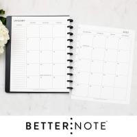 Monthly Calendar Disc-Bound Planners, Fits 11-Disc Levenger Circa by Natalie Rebecca Design