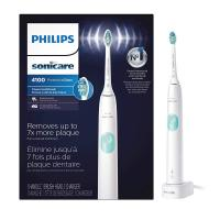 Philips Sonicare ProtectiveClean 4100 Rechargeable Electric Toothbrush, White HX…