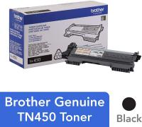 Genuine High Yield Toner Cartridge, TN450, Replacement Black Toner by Brother