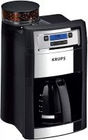 KRUPS KM785D50 Grind and Brew Auto-Start Maker with Builtin Burr Coffee Grinder, 10-Cups, Black