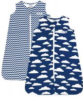 Sleep Bag Set for Baby Boys & Girls by BaeBae Goods | Navy Clouds Collection - Baby Sleeping Bag…