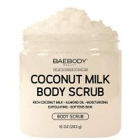Coconut Milk Exfoliating & Moisturizing Body Scrub by Baebody, 10 Ounces