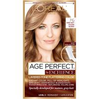 Age Perfect Permanent Hair Color 7G Dark Natural Golden Blonde by L'Oreal Paris - 1 kit