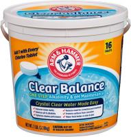 Clear Balance Pool Maintenance Tablets by Arm & Hammer, 16 Count, Net Wt. 7LB (3.18kg)