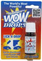 Lick A Drops Breath Freshener Peppermint by WOW - 0.34 oz (pack of 1