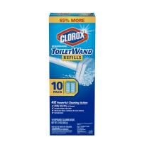 Disinfecting Refills, Disposable Wand Heads by Clorox Toilet Wand - 10 Count