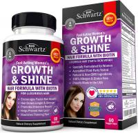 Hair Growth Vitamins with Biotin by BioSchwartz. Exclusive Hair Growth Product f…