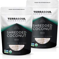 Terrasoul Superfoods Organic Coconut Flakes, 2 Lbs (2 Pack)  Making Coconut Milk