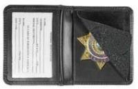 Leather Badge Holder 7 Pointed Star Compact by Hero's Pride
