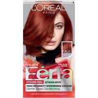 Feria Multi-Faceted Shimmering Permanent Hair Color R68 Ruby Rush by L'Oreal Paris - 1 Count kit Hai…